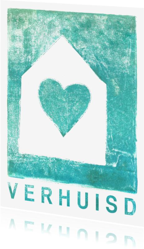 Samenwonen kaarten - Verhuiskaart met hart