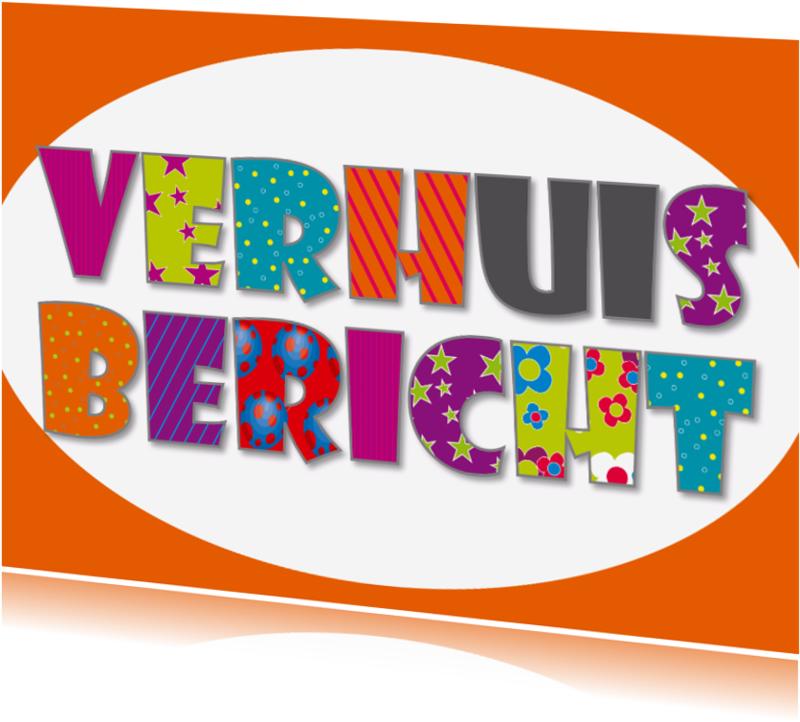 Verhuiskaarten - Verhuiskaart tekst oranje - SZ