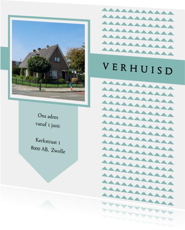 Verhuiskaarten - Verhuiskaartje Blauw - WW