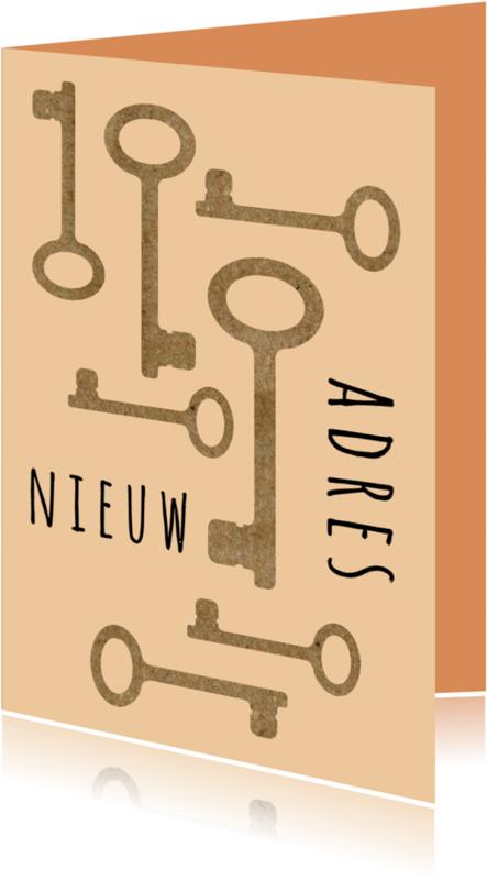 Verhuiskaarten - Verhuizing kartonnen sleutels