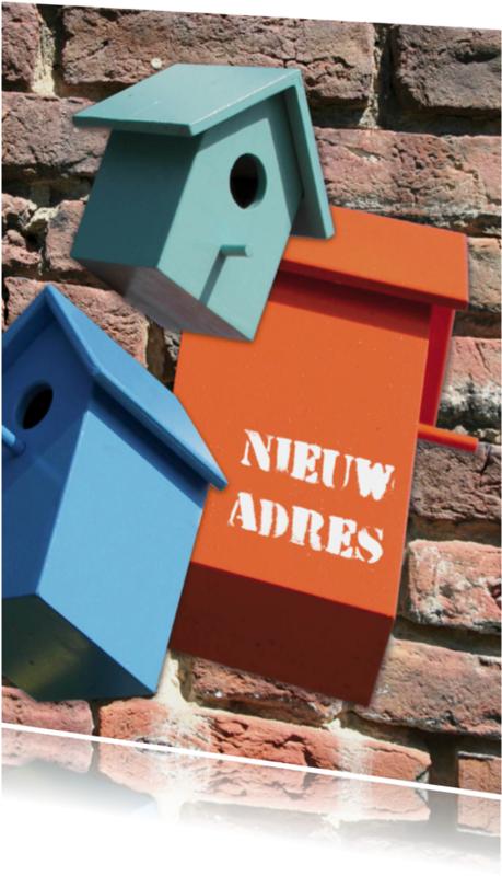 Verhuiskaarten - verhuizing vogelhuisje