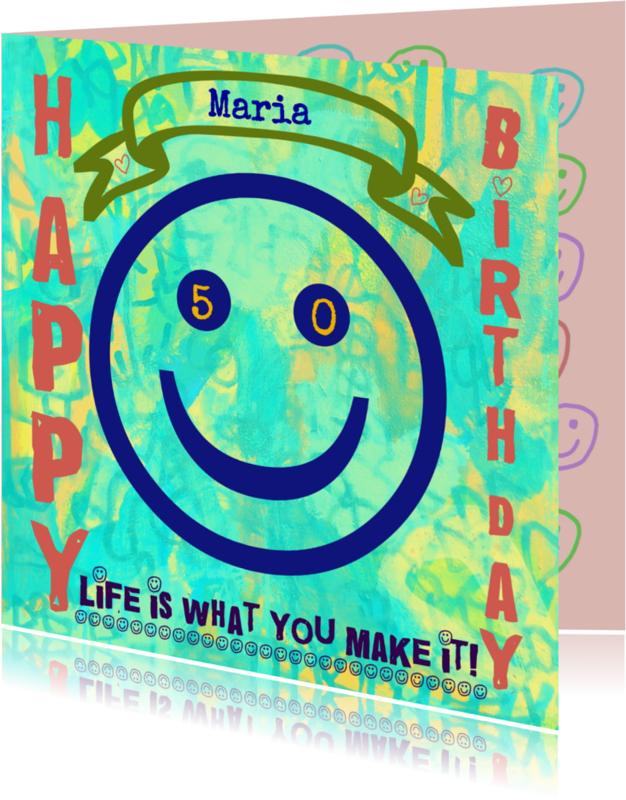 Verjaardagskaarten - Verjaardag 50 x GeLuK IW