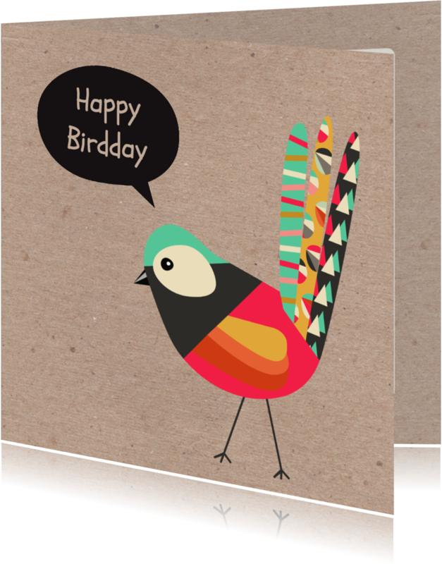 Verjaardagskaarten - Verjaardag bird - SV