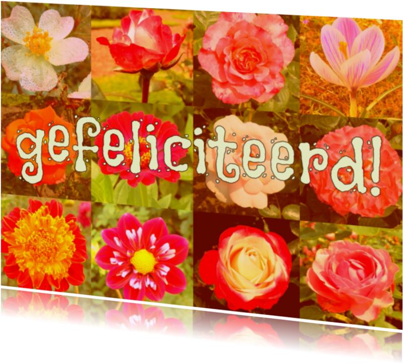 Verjaardagskaarten - Verjaardag  bosje bloemen IW