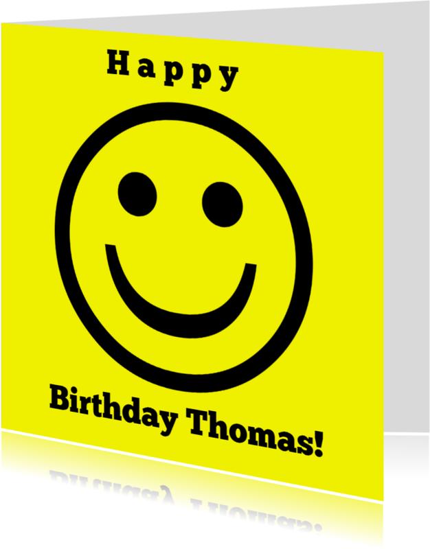 Verjaardagskaarten - Verjaardag Funny Smiley IW