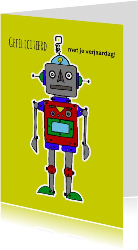 Verjaardagskaarten - Verjaardag-kind-robot-geel-HR