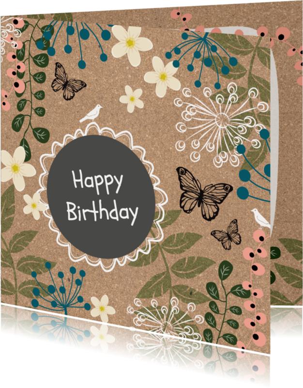 Verjaardagskaarten - Verjaardag natuur kurk - SV