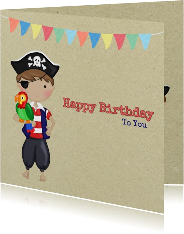 Verjaardagskaarten - Verjaardag Piraatje