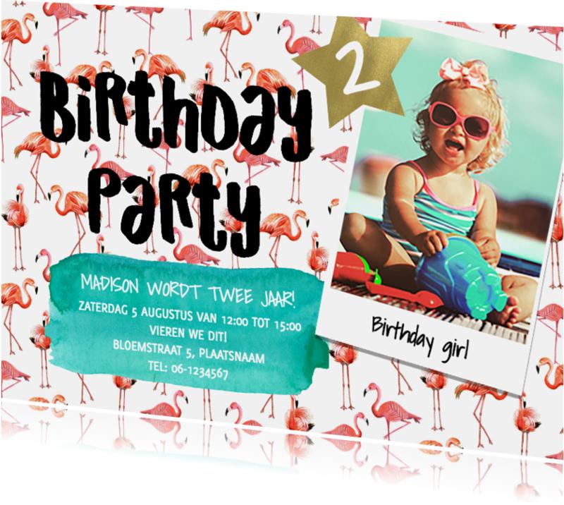 Kinderfeestjes - Verjaardagfeestje Flamingo zomer