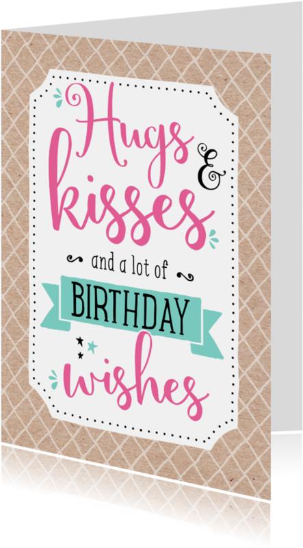 Verjaardagskaarten - Verjaardagskaart Kisses