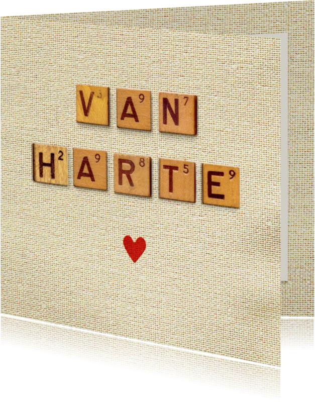 Verjaardagskaarten - Verjaardagskaart letters vintage