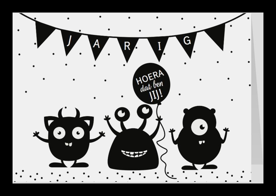 Verjaardagskaarten - Verjaardagskaart Monsters