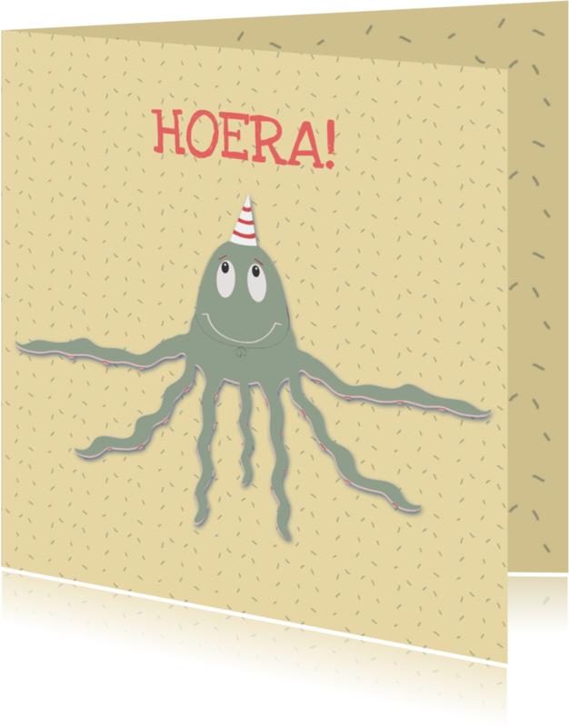 Verjaardagskaarten - Verjaardagskaart Octopusje