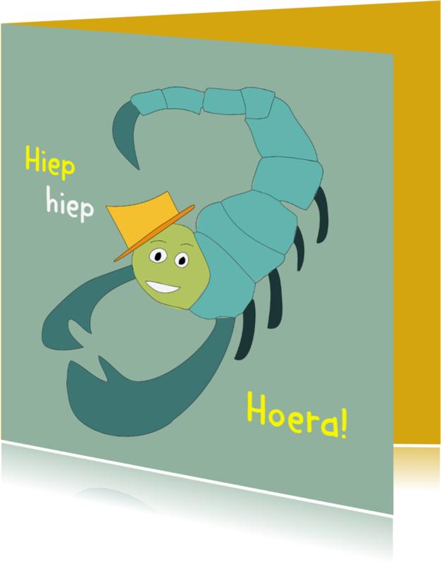 Verjaardagskaarten - Verjaardagskaart Schorpioen