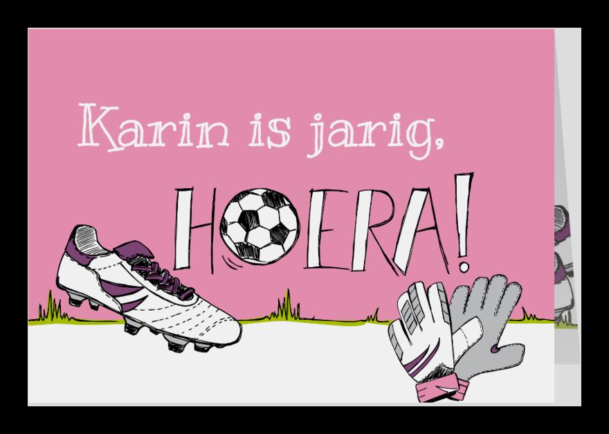 Verjaardagskaarten - Verjaardagskaart voetbal en naam