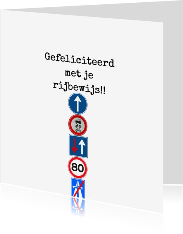 Geslaagd kaarten - Verkeersborden rijbewijs