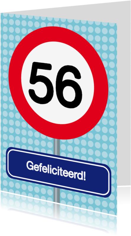 Verjaardagskaarten - Verkeersbordkaart Zelf aanpassen 2
