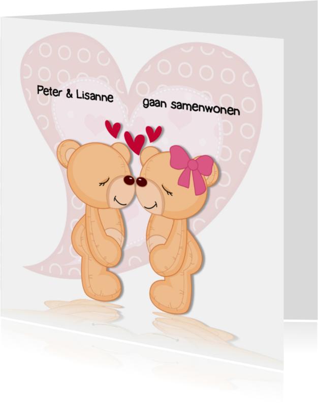 Samenwonen kaarten - Verliefde beren