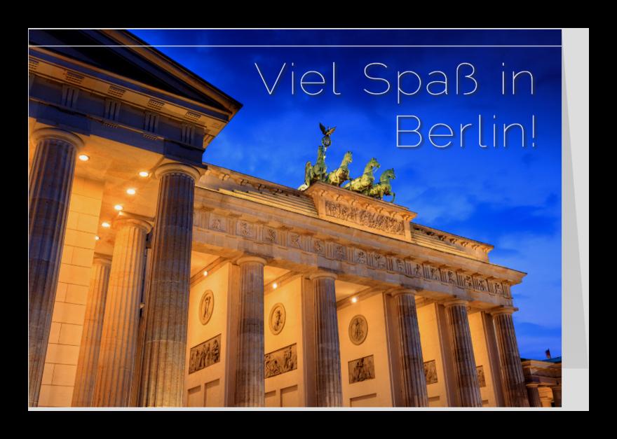 Vakantiekaarten - Viel Spaß in Berlin!