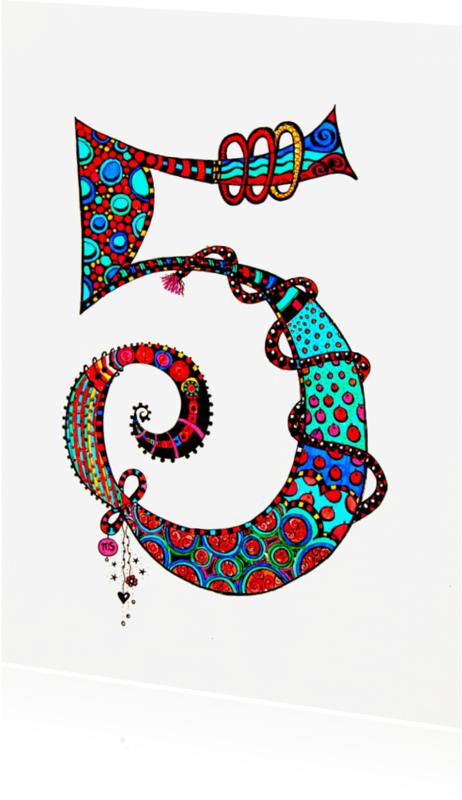 Verjaardagskaarten - Vijf