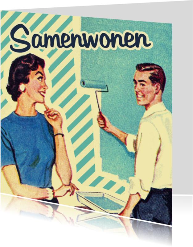 Samenwonen kaarten - Vintage Samenwonen