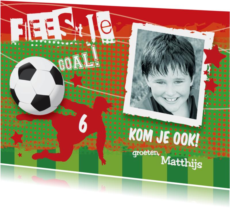 Kinderfeestjes - Voetbal Uitnodiging kinderfeestje