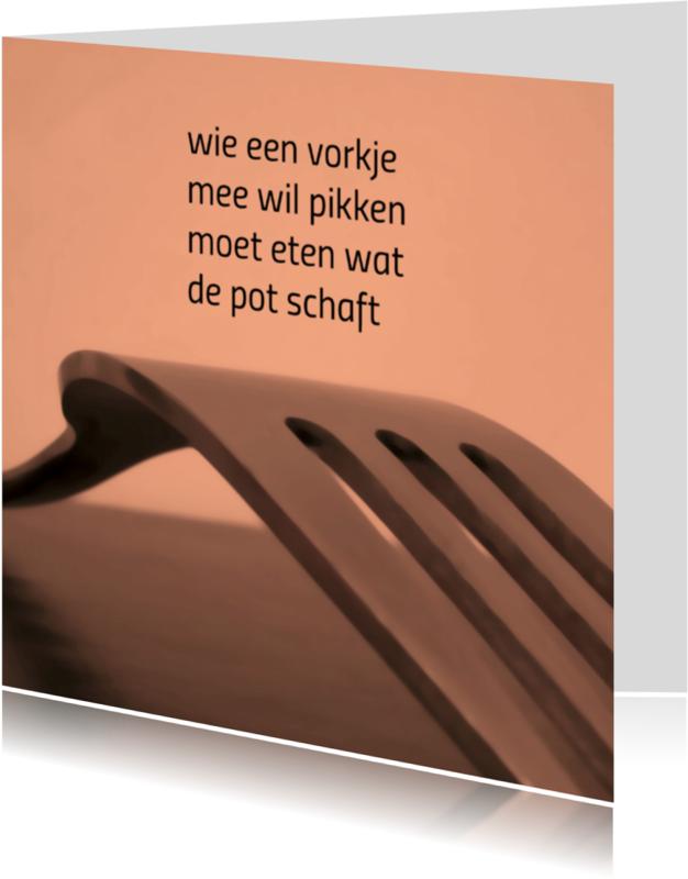 Spreukenkaarten - vorkje meepikken - gedichtenbeeld