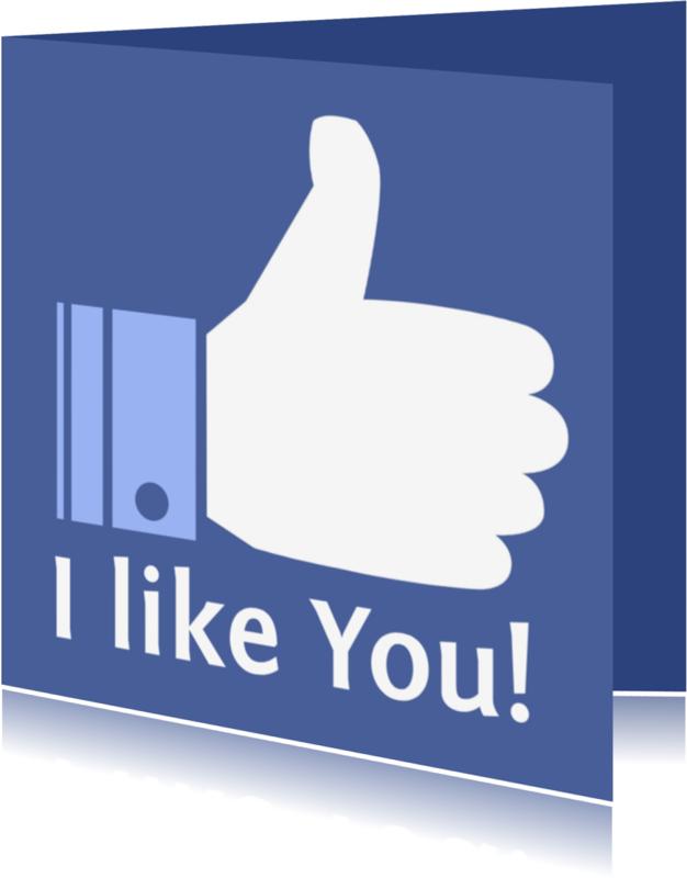 Vriendschap kaarten - Vriendschap kaart I like You!