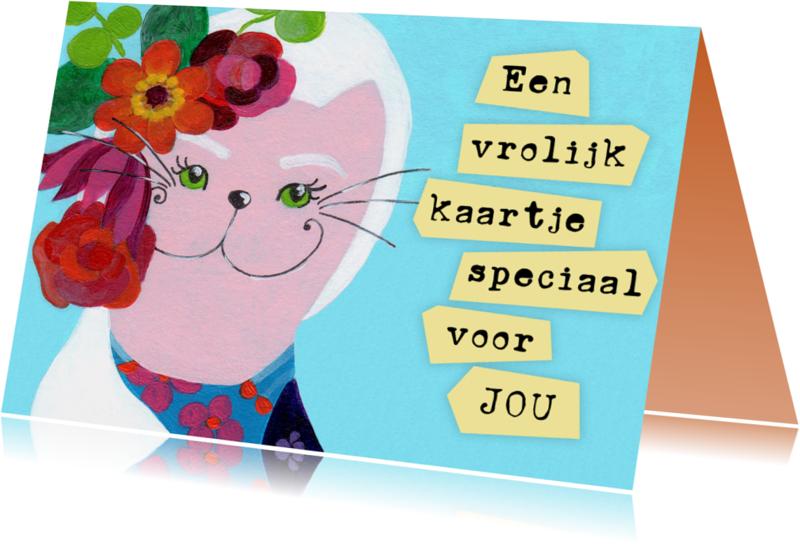 Vriendschap kaarten - Vriendschap kaart kat speciaal