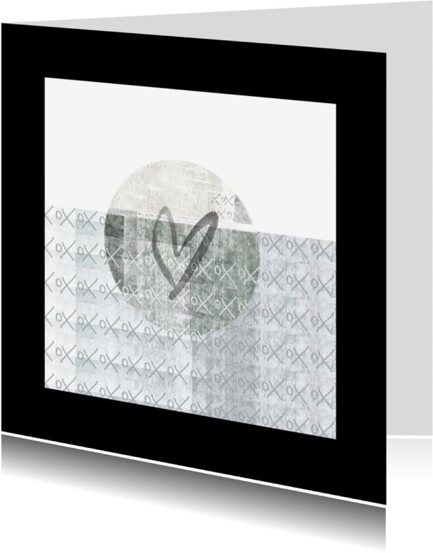Vriendschap kaarten - Vriendschapkaart-hart en patroon-IP