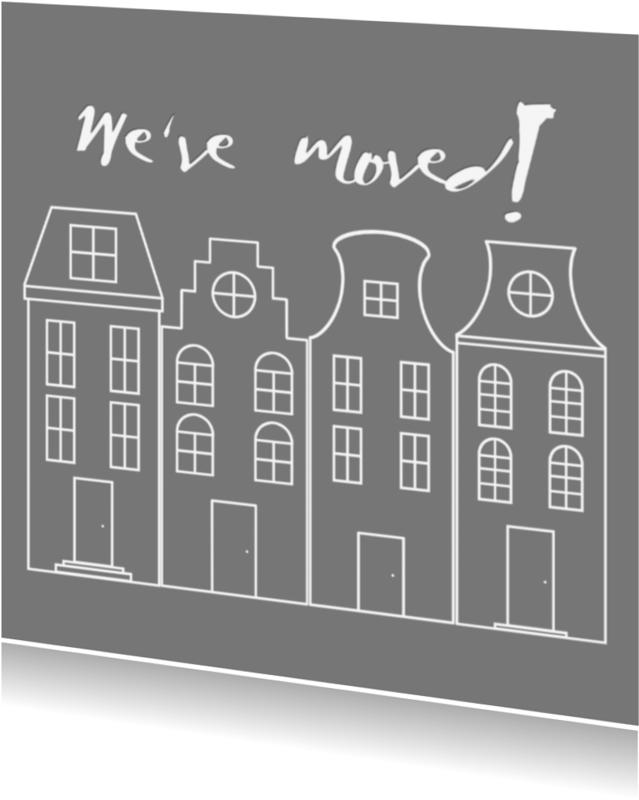 Verhuiskaarten - We've moved! verhuiskaart