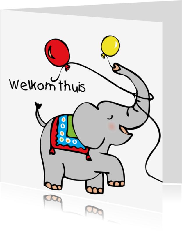 Geboortekaartjes - Welkom thuis olifantje