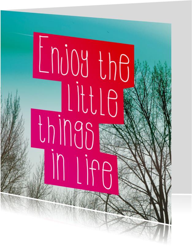 Spreukenkaarten - Wijze speuk over het leven kaart
