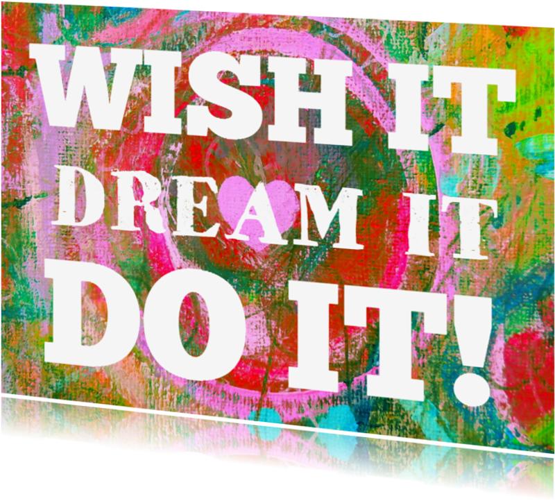 Coachingskaarten - Wish it dream it do it