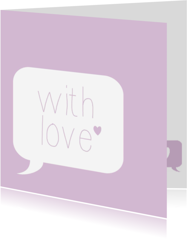 Vriendschap kaarten - with love, roze