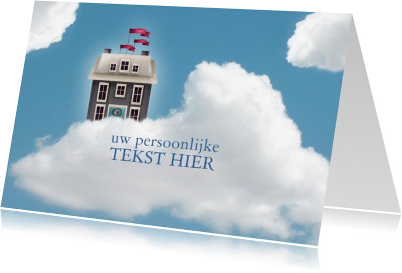 Verhuiskaarten - wolkenhuisje verhuisbericht 2