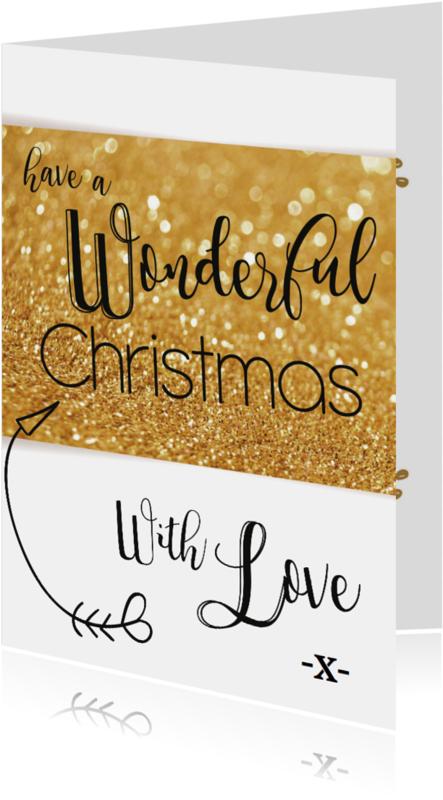 Kerstkaarten - Wonderful christmas-BF