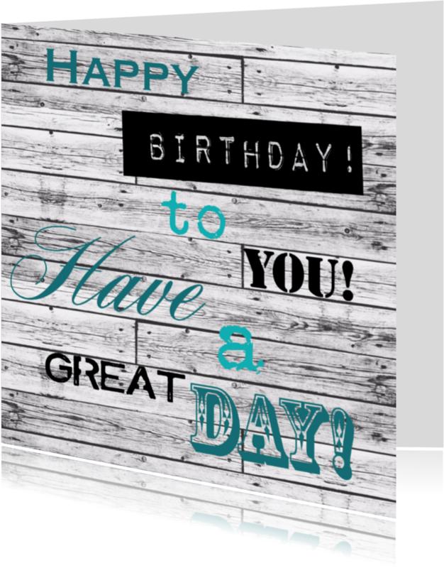 Verjaardagskaarten - Woorden Birthday groen - BK