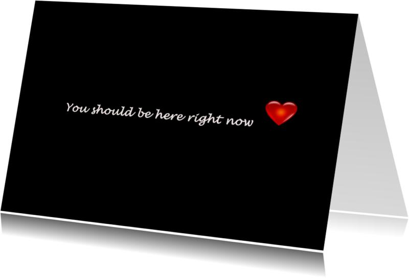 Liefde kaarten - You should be here