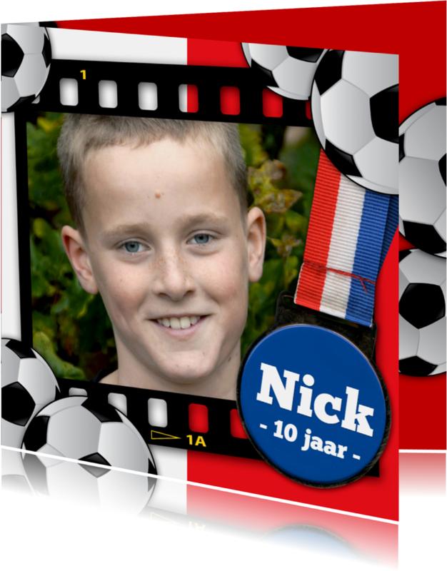 Kinderfeestjes - YVON voetbal eigen foto medaille