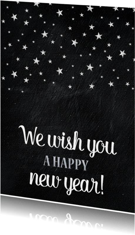 Nieuwjaarskaarten - Zilveren sterren - SU