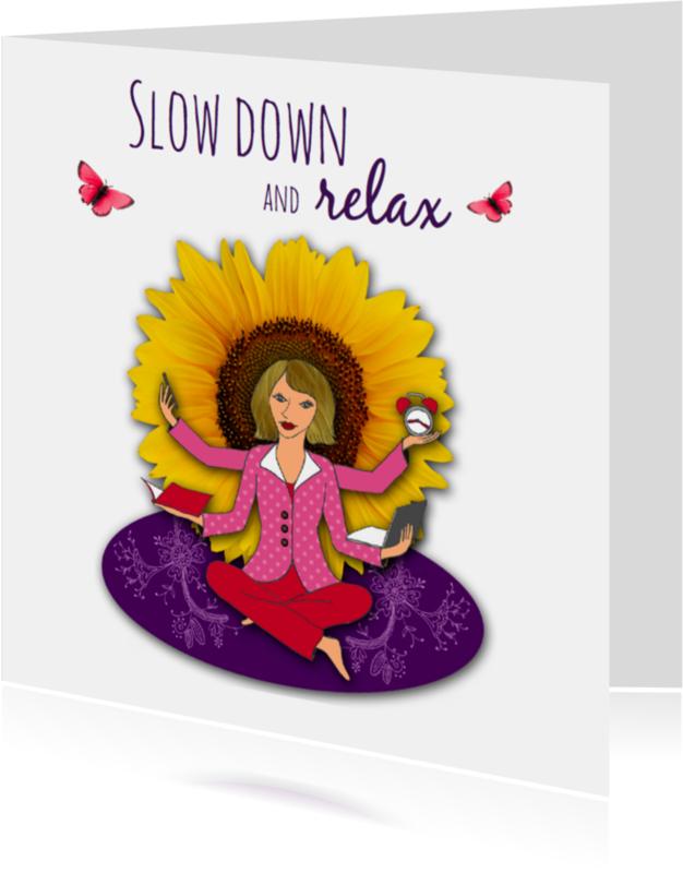 Spreukenkaarten - Zittende vrouw wil rust