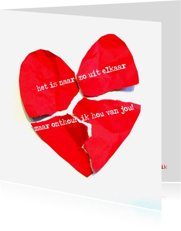 Gedichtenkaarten - Zo uit elkaar Hart - AW