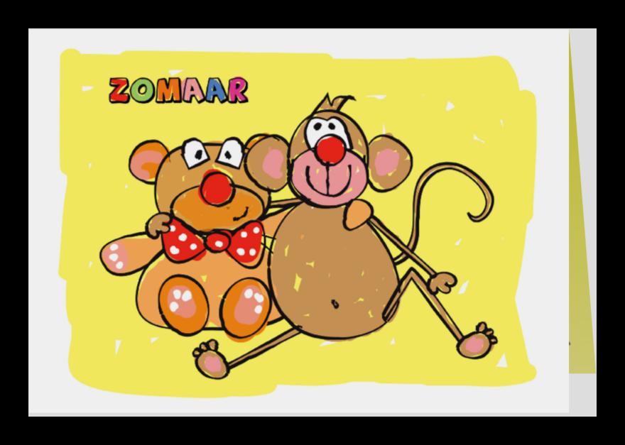 Zomaar kaarten - Zomaar beer en aap