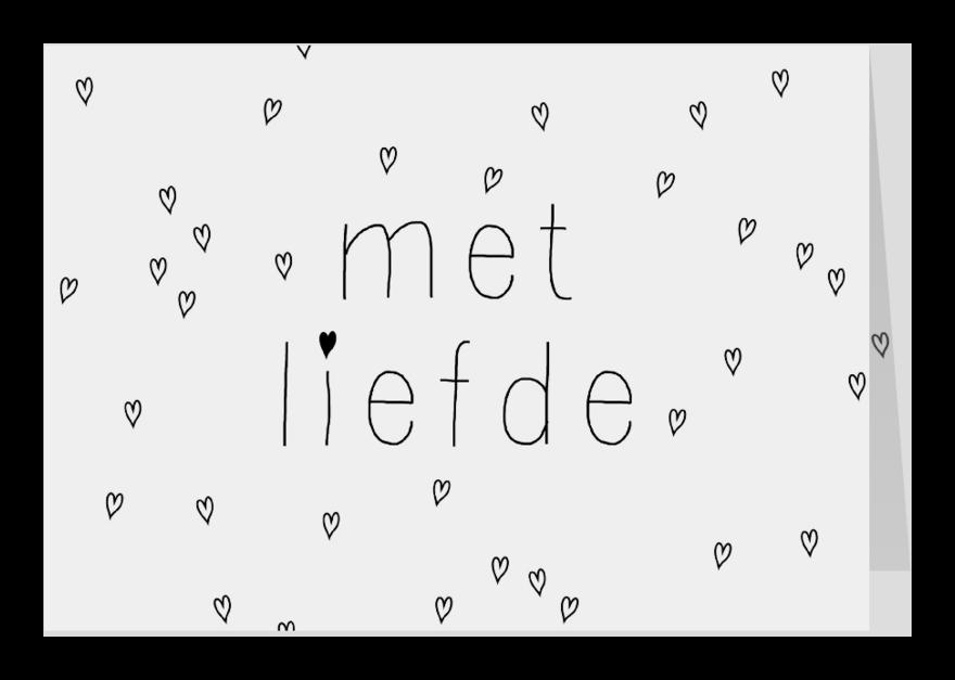 Liefde kaarten - Zomaar een lief kaartje, gewoon
