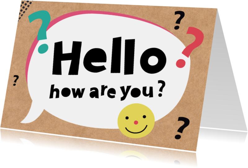 Zomaar kaarten - Zomaar-Hello, how are you?-HK