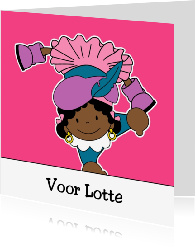 Sinterklaaskaarten - Zwarte Piet 2a